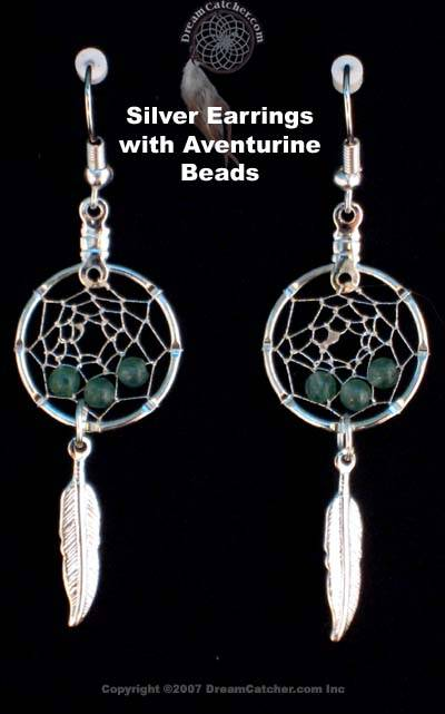 Aventurine Dreamcatcher Earrings