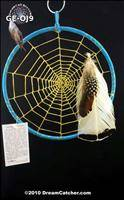Gray Elk Ojibway Style Weave Dream Catcher (9 inch)