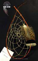 Cherokee style Red Willow Dream Catcher (medium)