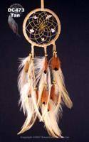 Natural dream catcher with hackle and pheasant feathers