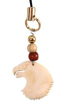 Eagle totem cell phone charm