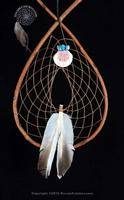 Red Willow  Tee Pee Dream Catcher  With Shell And Turquoise Bundle