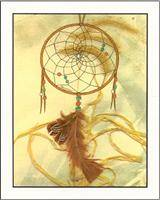 Hand illustrated dream catcher card set