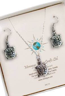 Turtle Totem Earring and Necklace set