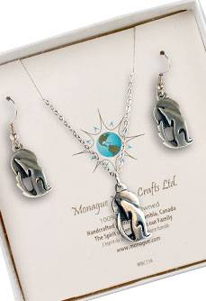 Wolf Totem Earring and Necklace set