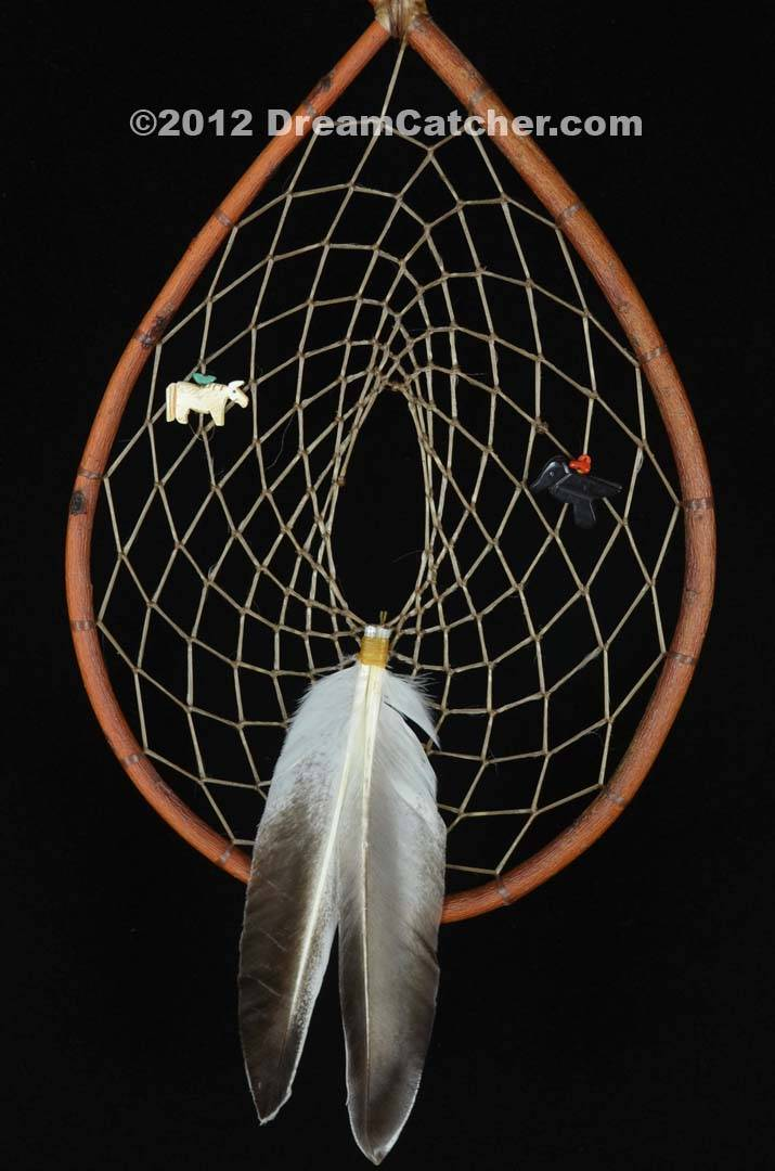 Authentic Red Willow Tee Pee Dream Catcher With White Horse And