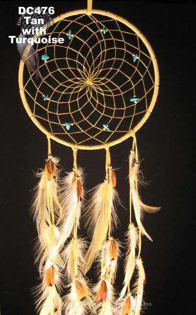 Handmade Natural DreamCatcher with Hackle and Pheasant Feathers