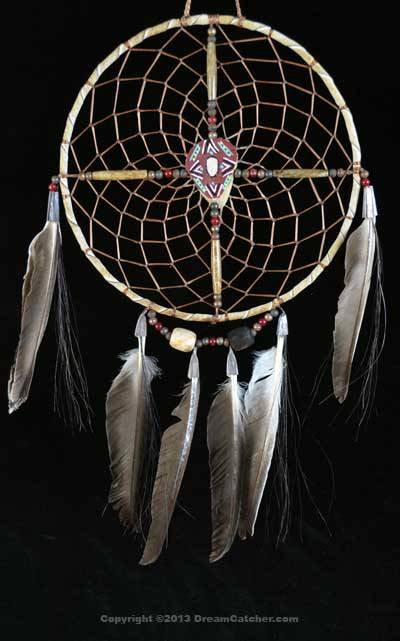 Navajo Spirit Wheel With Red Painted Center (8 Inch)