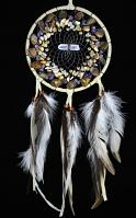 Vision Seeker Dream Catcher with Layered Semi-Precious Stones
