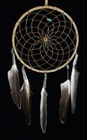 Authentic 6 Inch Navajo Dream Catcher with  Certificate of Authenticity