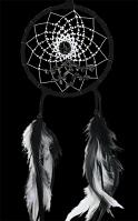 Black Energy Flow Dream Catcher with Hematite semi-precious stones (4 Inch)
