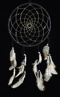 Stone People 6 Inch Dream Catcher with Jet Stone