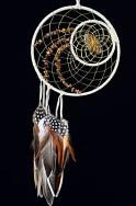 Woodland Dream Catcher detailed with tiger eye semi-precious stones