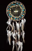Brown Vision Seeker Cluster Dream Catcher with Tiger Eye, Jasper, Citrine and  Turquoise stones